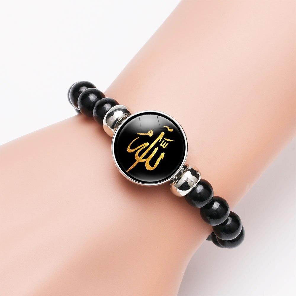 Bohemian Beads Allah Bracelet Men Women Handmade Vintage Classic Bracelet Allah Time Gem Beaded Jewelry Gift