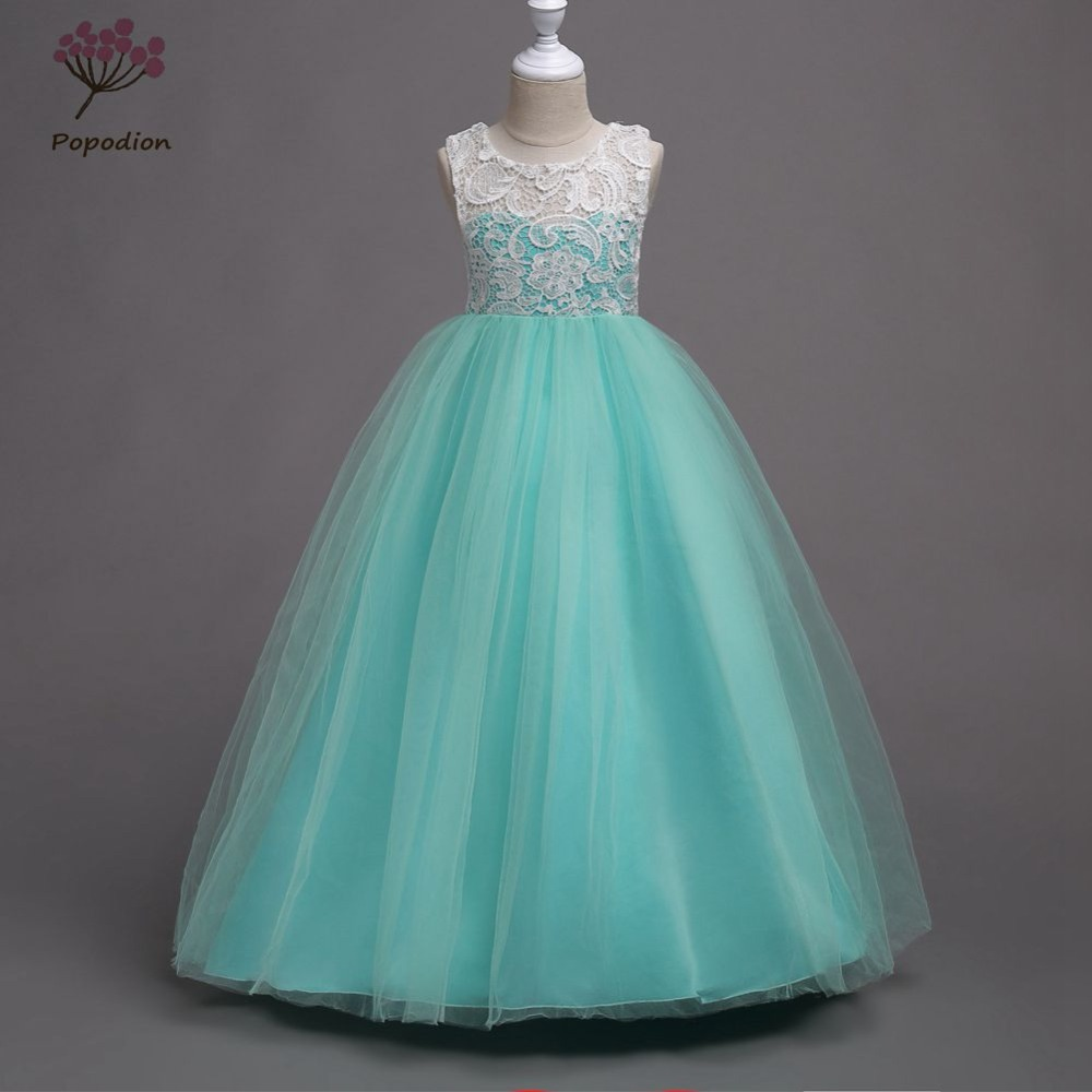 261 50 De Descuentopopodion Flor Chica Vestidos Vestido De Baile Desfile Vestidos Largos Para Niñas Flor Chica Vestidos Para Bodas Vestido Largo