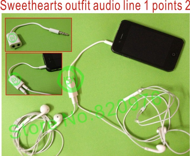 (50pcs/lot)Wholesales!3.5mm Audio Splitter cable 1 to 2 audio splitter line for Suitable for all phone  tablet PC+freeshipping