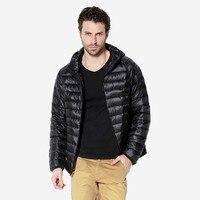 2017 Venda Quente de Inverno Homens Casacos Sólidos Respirável Pato Para Baixo jaqueta de Design Da Marca dos homens Ao Ar Livre Parka hombre Plus Size 3XL roupas