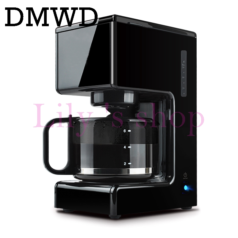 DMWD 750ml 680w Full-Automatic Coffee maker Multifunctional household Tea Coffee Machine Intelligent Auto Off Drip Coffee Maker coffee maker uses the american drizzle to make tea drinking machine