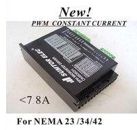 New! 2pcs/lot CNC NEMA 34 Stepper Motor Driver DM8060H For NEMA 17 23 34 Stepper Motor 7.8A DC/AC Supply 256 Subdivision