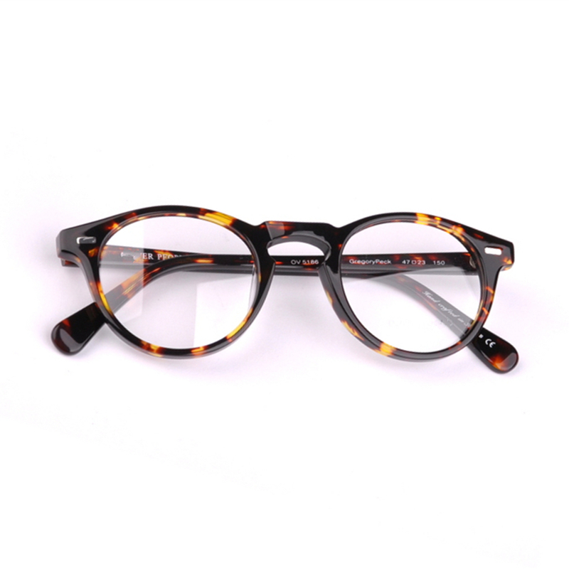 2018 New Vintage Eyeglasses Frames OV5186 Gregory Peck Acetate Round Glasses Frame Men Eyeglasses Women with Original Case image