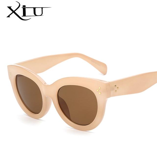 XIU Women Sunglasses Oversized Points Fashion Glasses Brand Mercedes Sunglasses Vintage Female Designer Oculos De Sol