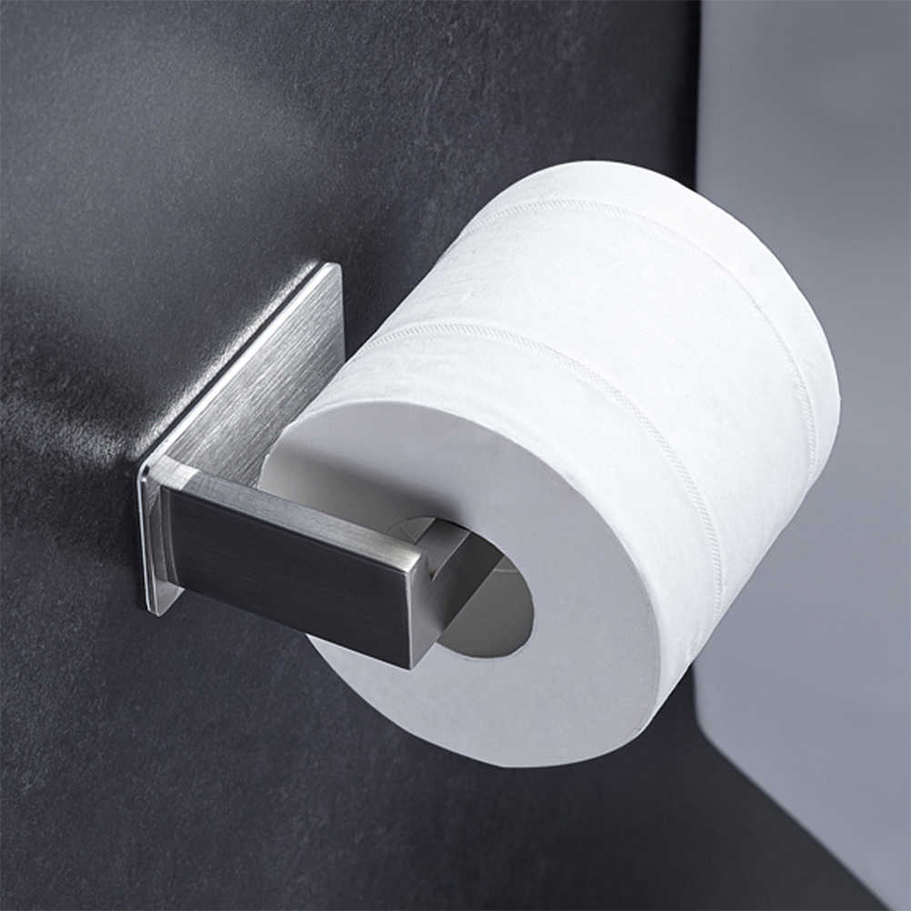 304 Stainless Steel Toilet Paper Holder Durable Wall Mounted Roll Paper Organizer Towel Rack Bathroom Tissue Holder