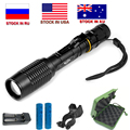 ZK20 LED Flashlight V5 T6 8000LM 5-Modes Zoom dropshipping Torch tactical flashlights Lamp can be used with two 18650 batteries