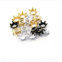 50pcs 13x6mm Antique Bronze/Gold/Silver Crown Charms European Style Charm Metal Jewelry findings For Bracelet Necklace DIY