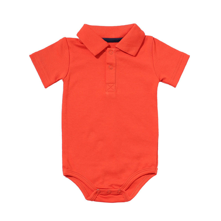 HTB18ZVec56guuRjy1Xdq6yAwpXao Summer Baby Boy Girl Rompers Turn-down Collar Infant Newborn Cotton Clothes Jumpsuit For 0-2Y Toddlers Bebe Outfits