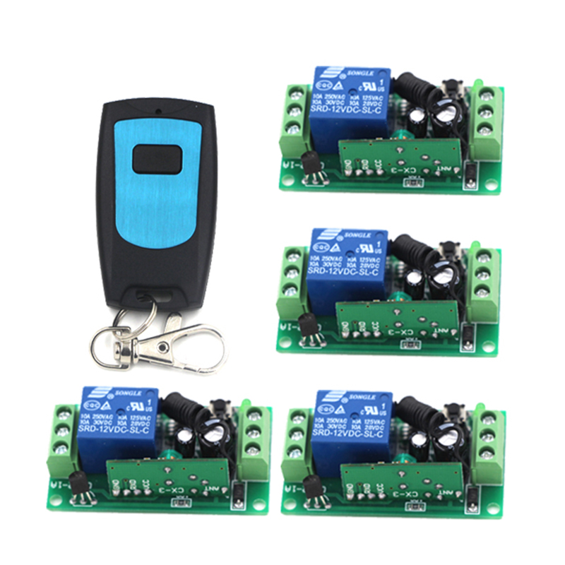 New Arrival DC 12V 1CH Channel Wireless RF Transmitter Receiver Remote Control Switch for Motorcycle 4037 dc 12v 2ch 2 channel wireless rf remote control switch 3 transmitter and 1 receiver for wireless system 3312