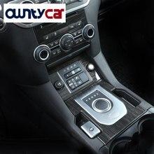 Роскошный интерьер литья из темного дерева зерна консоли Шестерни Цельнокройное Панель крышка отделка Наклейки для Land Rover Discovery 4 LR4