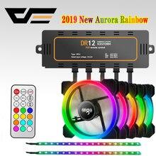 Чехол для компьютера darkFlash Aigo DR12, охлаждающий вентилятор, световая панель RGB, регулируемый светодиодный 120 мм, тихий пульт дистанционного охлаждения, вентилятор, светодиодные лампы, полосы