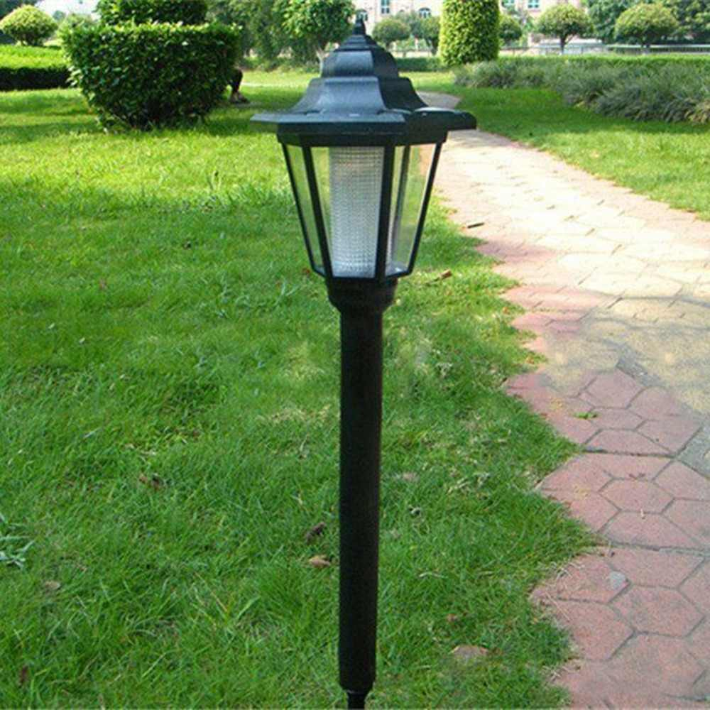 Outdoor Garden Fence Path Energy-saving Waterproof Solar Powered Light Hexangular Lawn Lamp with Super Bright LED Light