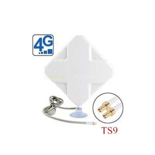 Indoor 4g 35dbi 2 * mimo antenna ts9 per modem huawei 4g e5776 e859 e5375 e3276 e392 e5571 e8278