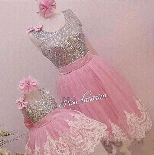 Sliver Bling Sequins Pink White Lace baby Birthday Party Dress flower girl dress sliver bling sequins pink white lace baby birthday party dress flower girl dress
