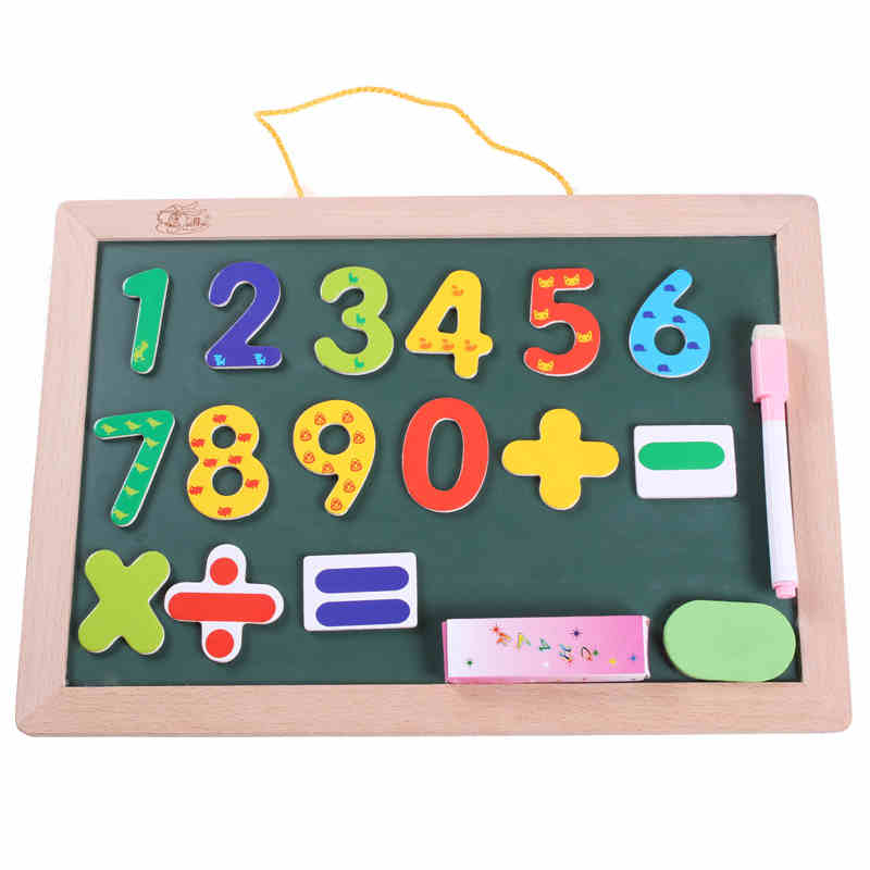 1PCS Children Learn To Draw Sketchpad, Wall Mounted Double sided Magnetic Jigsaw Puzzle, Home Baby Writing Graffiti Blackboard