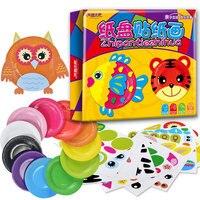 Montessori Educational FAI DA TE Giocattoli di Disegno Piatto Pittura Giocattoli Colorful Creativo Giocattoli Early Learning Per I Bambini Regalo CZ2448H