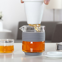 1Pcs 250ML Heat Resistant Glass Teapot With Infuser Chinese Kung Fu Tea Pot Coffee Cafe Strainer Cup Teaware Office Home Theepot