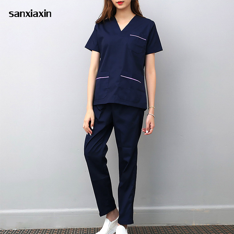 Sanxiaxin Spa Uniform Hospital Medical Scrub Clothes Set Dental Clinic And Beauty Salon Nurse Uniform Fashion Slim Fit Surgical