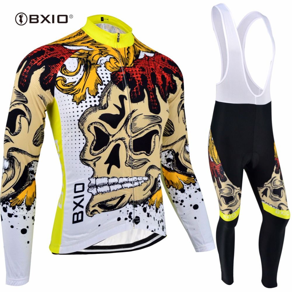 BXIO Winter Thermal Fleece Cycling Sets Warm Bike Clothing Long Sleeves Pro Team Bicycle Jersey Ropa Ciclismo Hombre Verano 074