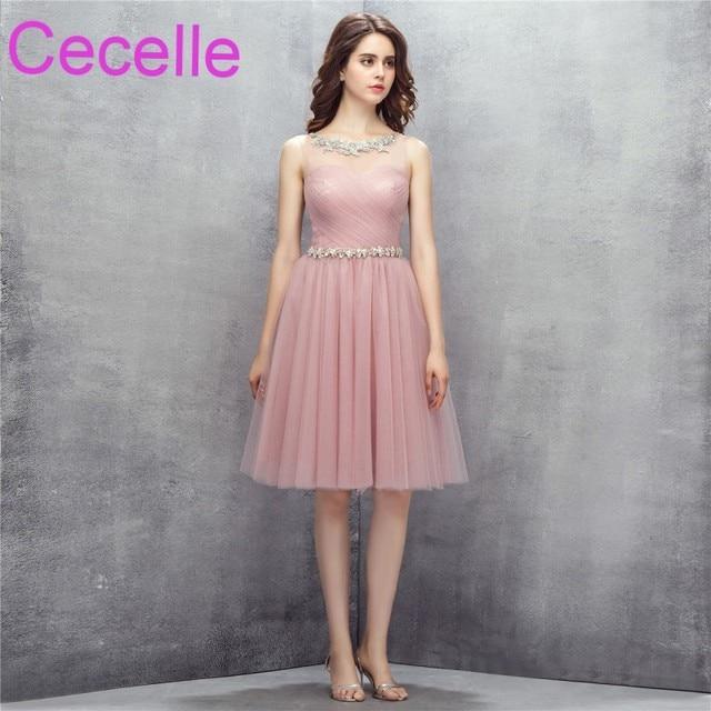 Pink Short Formal Simple Dresses
