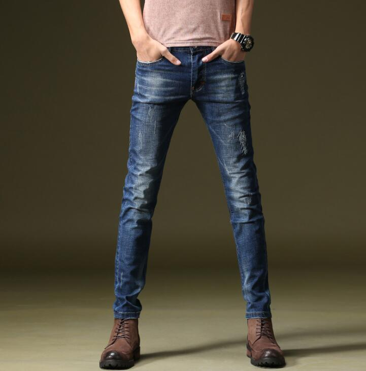 Good Quality 2019 Spring Hot Sales Stylish Men   Jeans   Discount Popular Long Male Pants Free Shipping