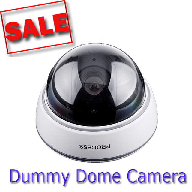 Wireless Dummy Dome Security Camera Flashing Red Light Safety Deter Crime Fake Home System