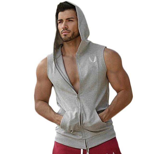 Hombres Stringer Culturismo Vallas sman GShark Músculos Maillots Hombres Sudor de Verano Chaleco de Algodón Sueltos