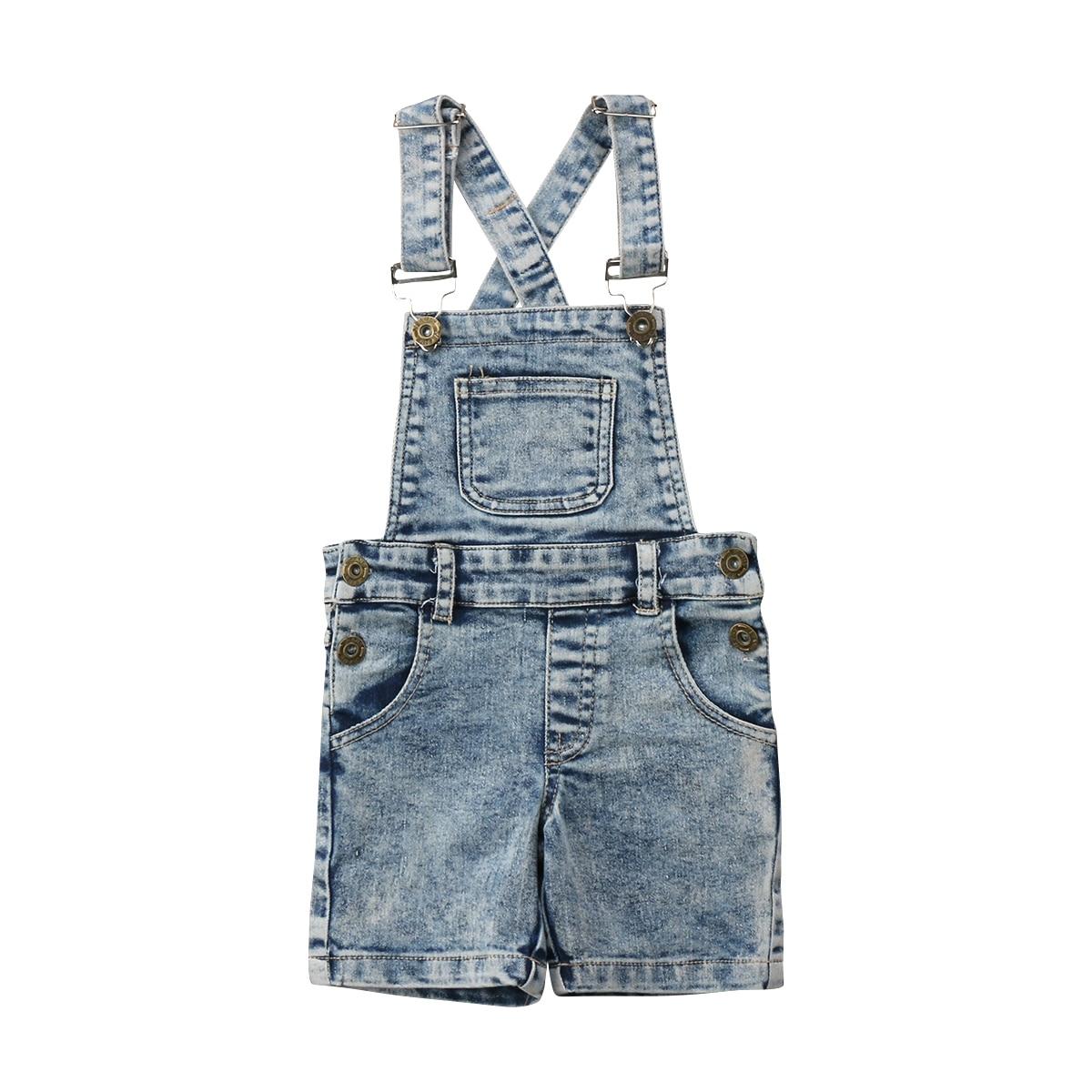 2018 Bambini Del Bambino Delle Ragazze Dei Ragazzi Del Denim Dei Pantaloni Tute Tute E Salopette Pagliaccetto Playsuit Outfits Abbigliamento
