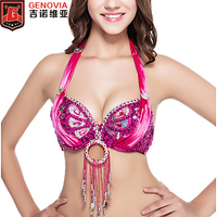 New Belly Dance Costume Sequins With Crystal Top Bra US Size 32 34B C 12 Colours