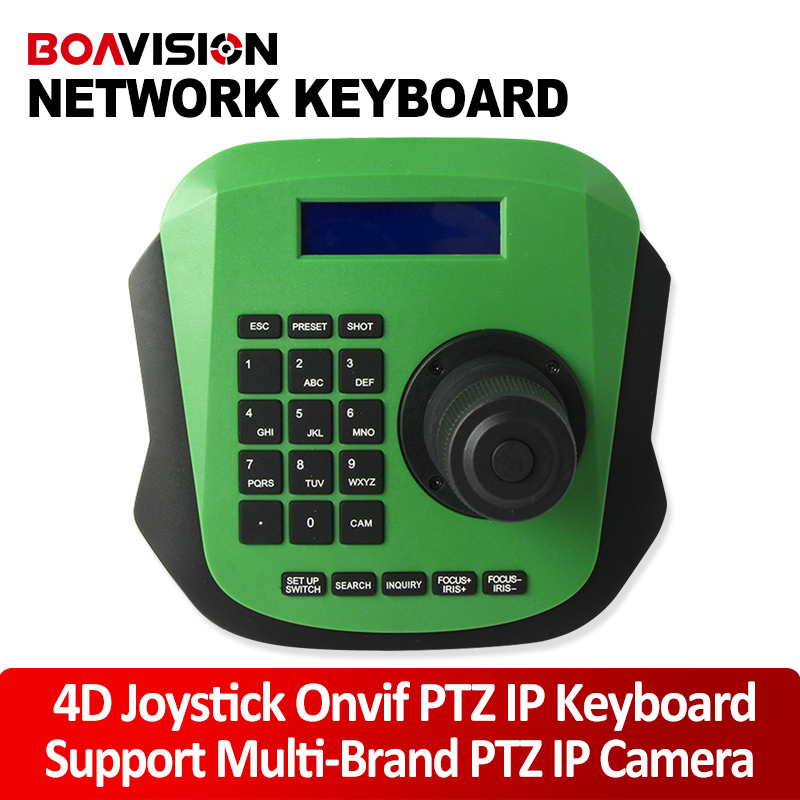 PTZ Network Keyboard Controller 4D 4 Axis RJ45/RS485 Use Joystick For CCTV PTZ Speed Dome Camera ONVIF