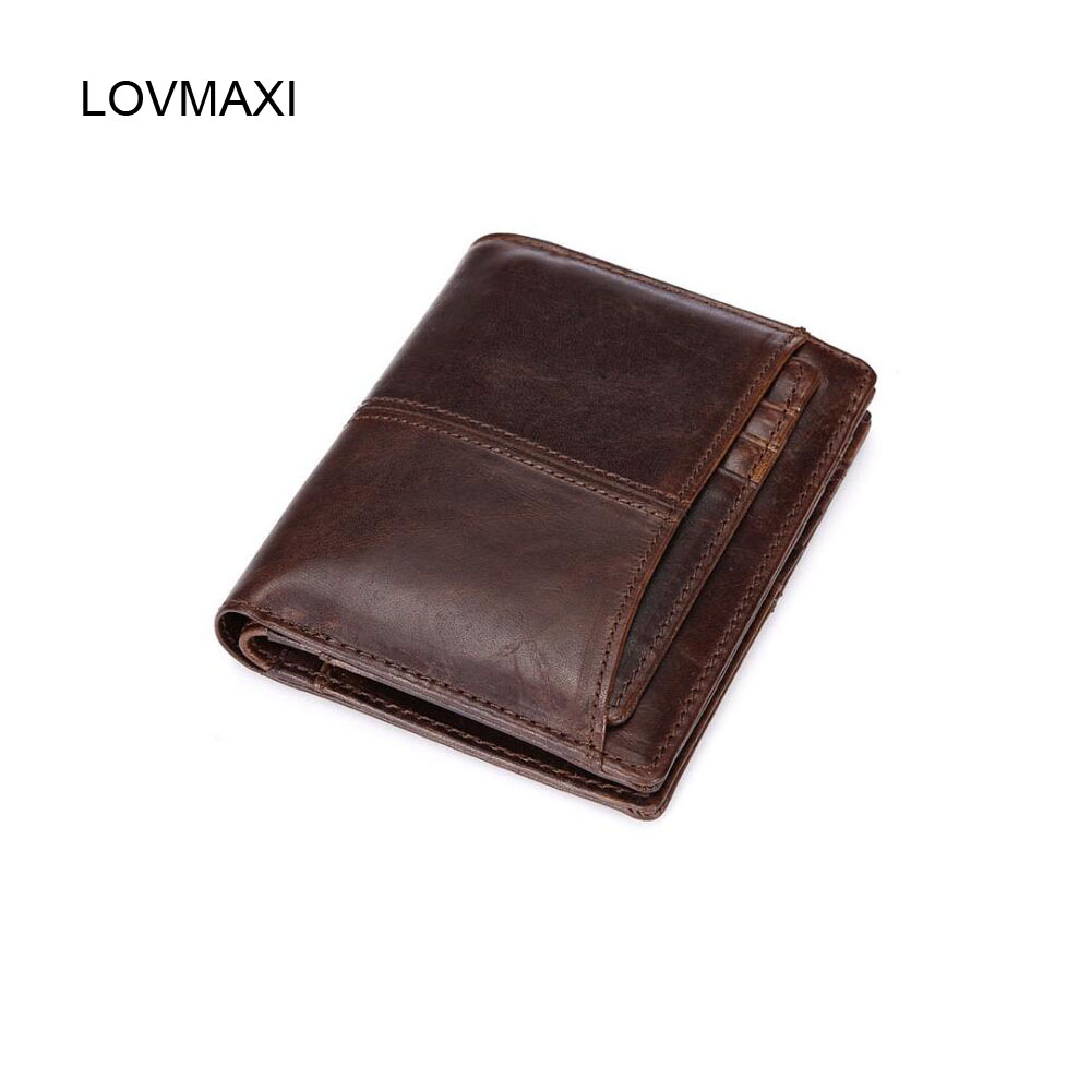 LOVMAXI Men short wallets Vintage wallet male causal coffee purse oil leather  purses business card clutch диск отрезной для ручных циркулярных пил bosch optiline wood 2608640623