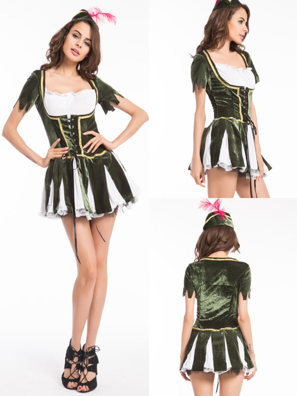Free Shipping Hot Sale Halloween Costume Sexy Oktoberfest Beermovie Costume Robin Costume 4997