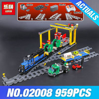 Lepin 02008 The Cargo Train Set Genuine 959Pcs City Series 60052 Building Blocks Bricks Educational Toys