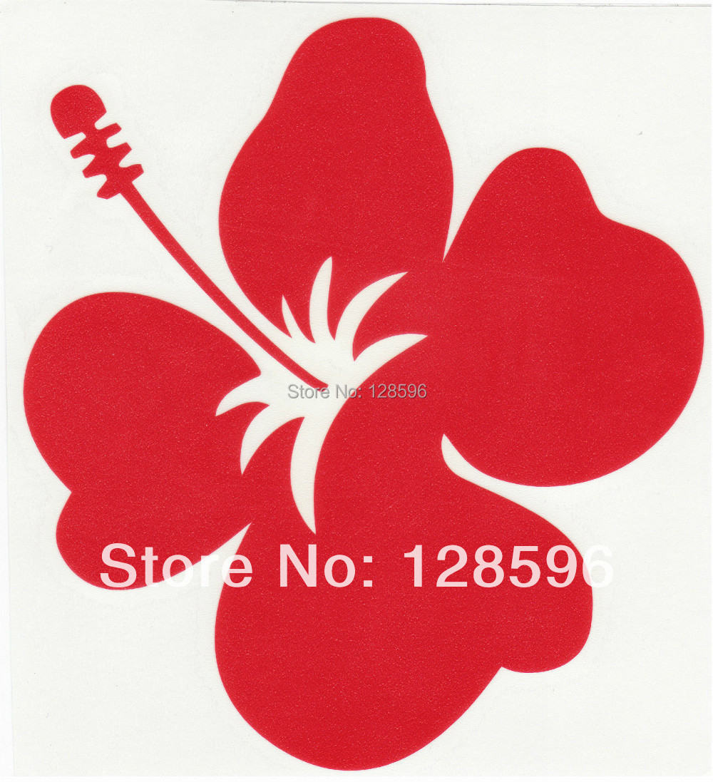 Hibiscus red vinyl sticker car truck boat decal hawaiian islands hibiscus red vinyl sticker car truck boat decal hawaiian islands flower in car stickers from automobiles motorcycles on aliexpress alibaba group izmirmasajfo