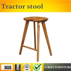 Бесплатная доставка U-BEST барный стул для украшения кофейни, трактор стиль барные стулья современный стиль деревянный барный стул