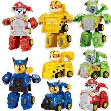 Paw Patrol Toy Deformation Car Can deformed Chase Robot dog Ryder Action Figure Anime PVC Model for Children Gift