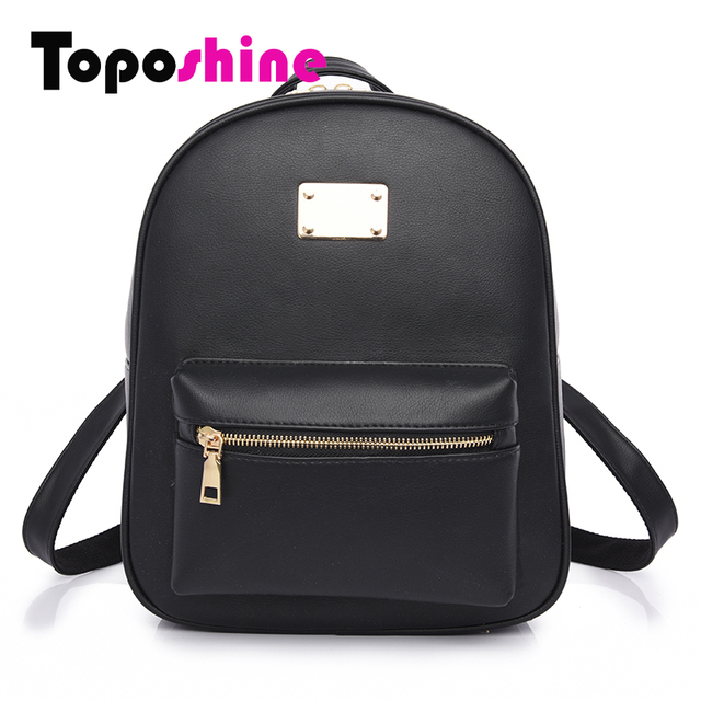 Toposhine Fashion Women Backpack For Girls 2017 Backpacks Black ...