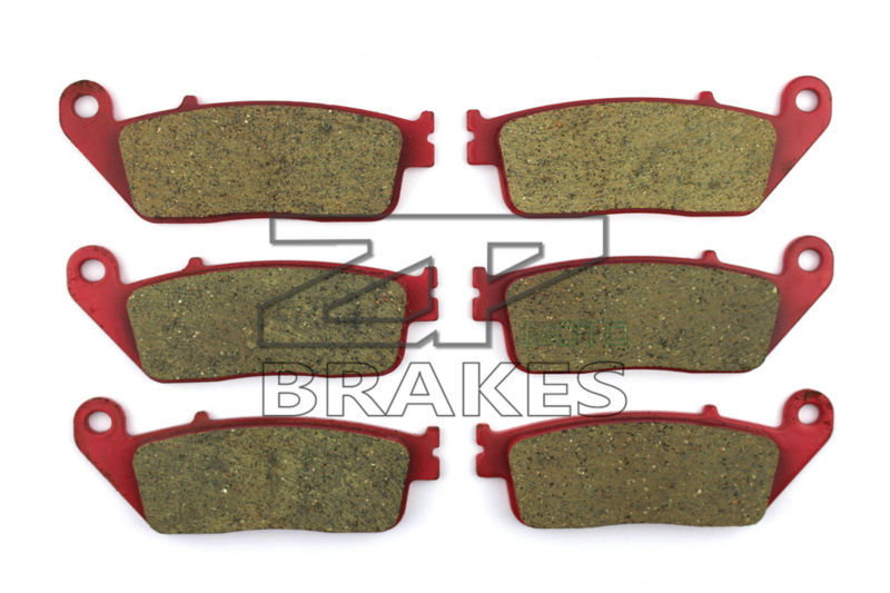 Motorcycle Brake Pads For HONDA 1500 GL 1997-2003 Front + Rear OEM New Carbon Ceramic Composite High Quality ZPMOTO high quality carbon ceramic road brake pads for honda cb 400 nc31 97 front