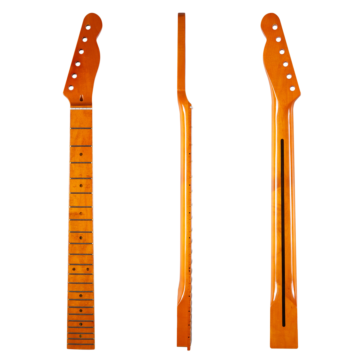 KAISH 22 Fret Glossy Tele Canadian Maple Guitar Neck Maple Fingerboard Abalone Shell Inlay Bone Nut for Telecaster kaish 2x neck