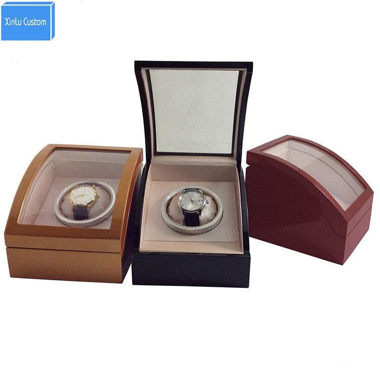 Nouveau boîtier de montre en bois design montres boîte avec velours intérieur en cuir PU oreiller, approvisionnement d'usine personnaliser logo