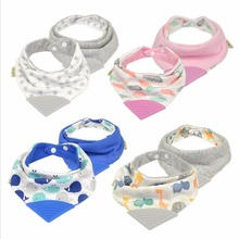 Lion Bear New Baby Gum Bib High Quality Triangle Saliva Towel Double Layers Cotton Gum Bib Infant Kid Scarf Bandana