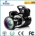 "Winait profesional lente gran angular cámara digital de 16mp y 2.4 ""dslr cámara de vídeo digital (dc-510t)"