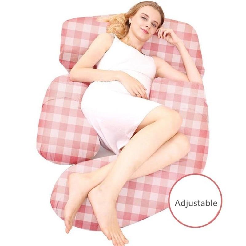 Multi-functional Pregnancy Big Pillow Waist Support Maternity Pregnant Women Pillow Comfortable Sleep Cushion Cotton Body Pillow