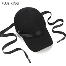 Fashion Rapper Baseball Cap with Long Ribbon for Young Men Women Students Hip Hop Hat Black White