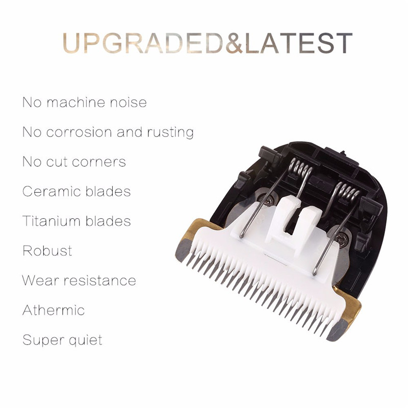 Professional Pet Dog Cat Hair Clipper Replaceable Ceramic Blade Cut Head Dog Hair Trimmer Grooming Blades5