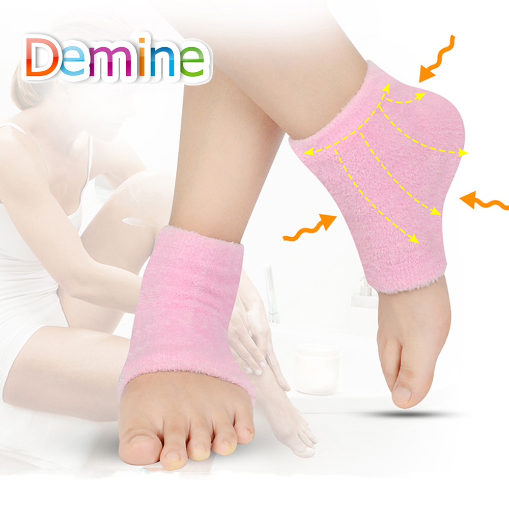 Demine Gel Ankle Socks for Dry Hard Cracked Skin Exfoliating Whitening Health Moisturizing Foot Care Protection Protector Insert