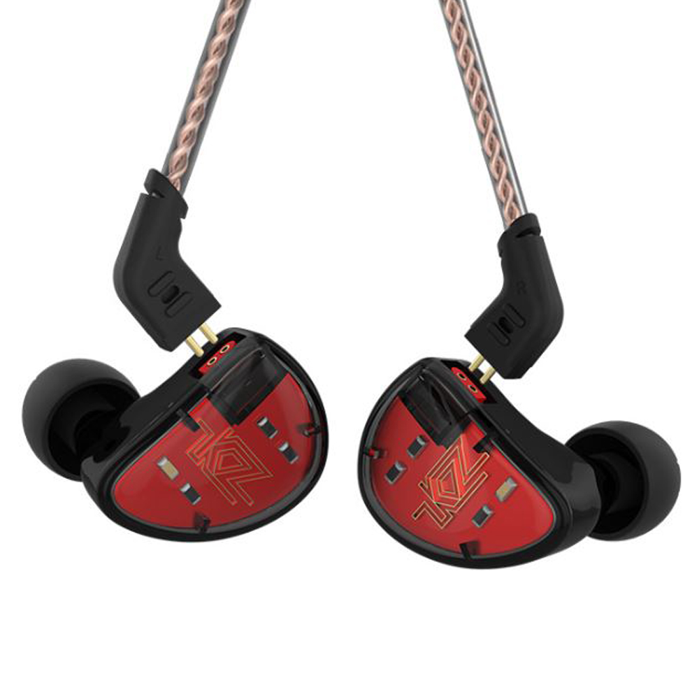 KZ AS10 Casque 5 Pilote à Armature Équilibrée Dans L'oreille Écouteurs HIFI Basse Moniteur Écouteurs Écouteurs Avec 2pin Câble