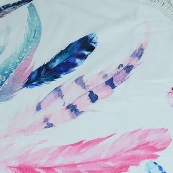 XC USHIO Dream Catcher Round Beach Towel With Tassels 450g Soft Microfiber 150cm Summer Swimming Picnic Blanket Wall Tapestry 2