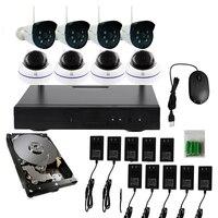 Nowa Oferta JSA 8CH Bezprzewodowy Zestaw NVR P2P Plug and Play 720 P HD IR Night Vision Bezpieczeństwo Kamera IP WIFI System CCTV