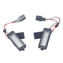 1 Pair 3W/12V LED Number License Plate Light Lamp For VW GOLF 4 5 6 7 Polo 6R  Car Exterior Accessories White